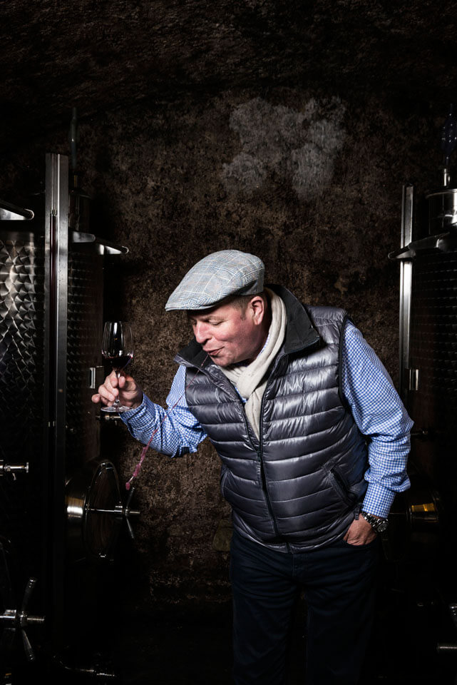 Portrait August Kesseler wine cellar